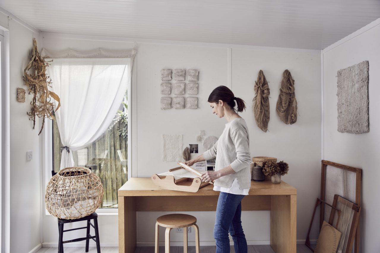 In the studio of Saskia Saunders photographed by Alun Callender